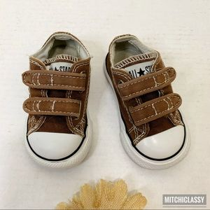 •Converse• Brown Baby Shoes